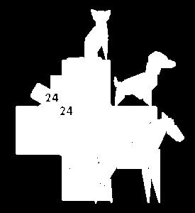Logo Vétos d'Urgence sans nom blanc